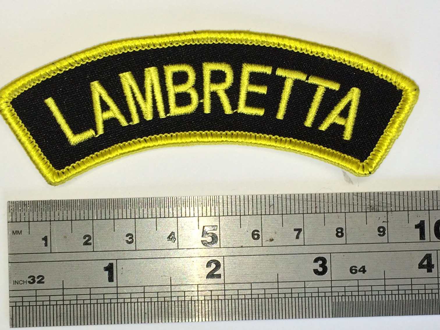 Get around better TRAVEL Lambretta Patch Iron or Sew On Embroidered