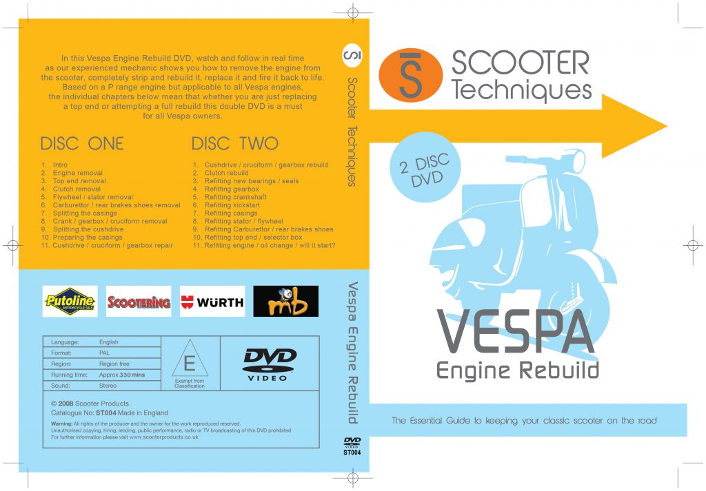 Vespa Engine Rebuild Twin Disc DVD - Scooterproducts