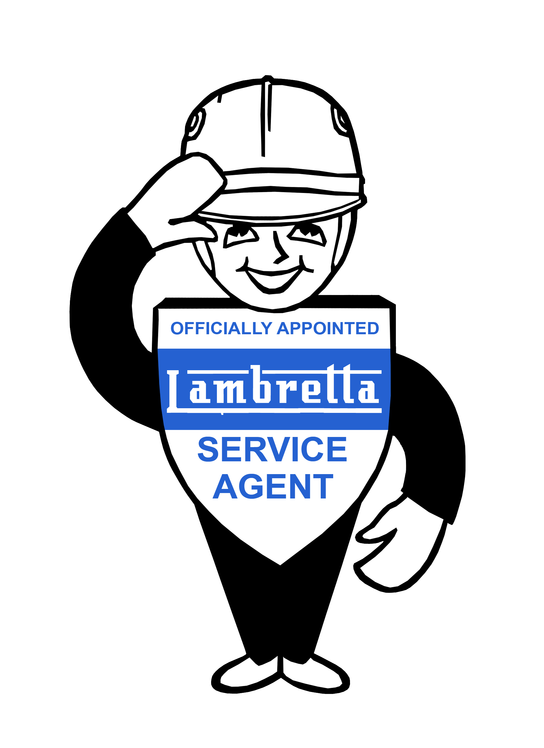 075 lambretta man service sticker